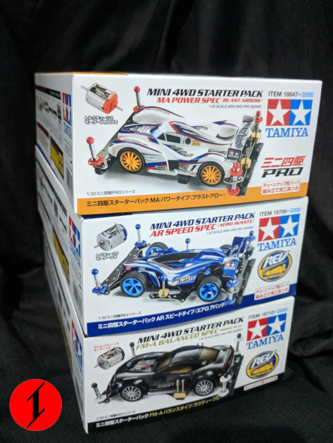 Entering the Tamiya Mini 4WD hobby with the Starter Pack kits.